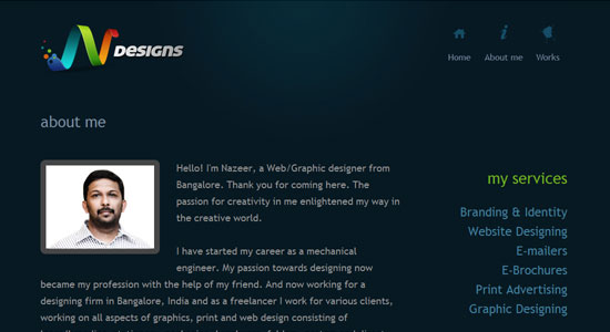 Experience About Us Pages of Some Highly Creative Designers Website 7
