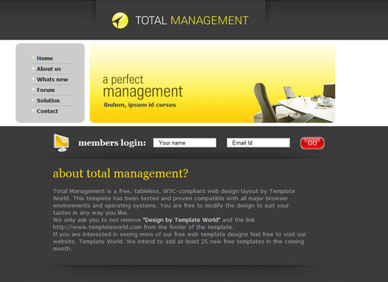 40 High Quality Free XHTML/CSS Web Template for Developers 5