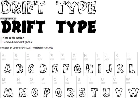 20 Useful Grunge Free Fonts for Web Designers 1