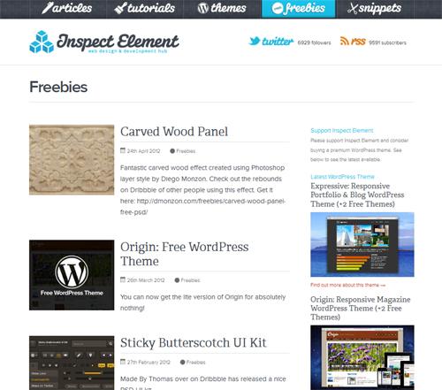 20 Blogs Offering Web Design Freebies 10