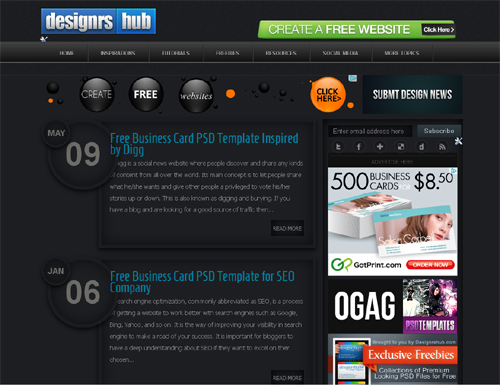 20 Blogs Offering Web Design Freebies 15