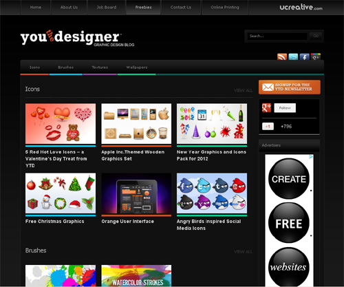 20 Blogs Offering Web Design Freebies 7