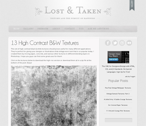 20 Blogs Offering Web Design Freebies 9