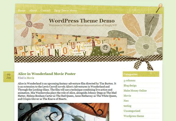 15 Scrapbook Style Web Design for Creative Inspiration 2