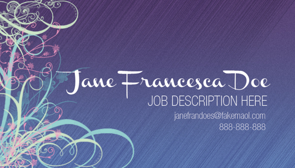 Design a Quick Elegant Feminine Business Card in 10 Simple Steps 11