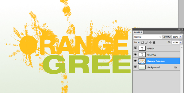How To Design a Splattered Flyer Title 6