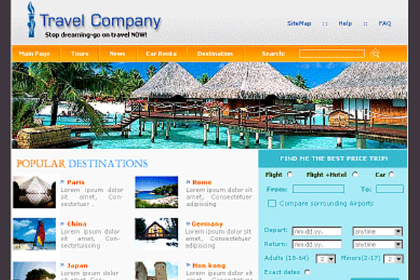 20 Best Free Travel Website Template 19