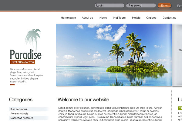 20 Best Free Travel Website Template 2