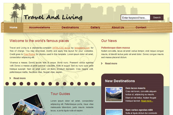 20 Best Free Travel Website Template 6