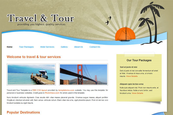 20 Best Free Travel Website Template 8