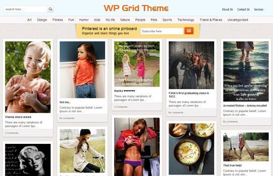5 of the Best Premium Pinterest like Themes 2