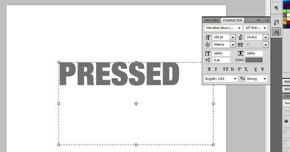 Creating a Letterpress Effect Using Text and Shapes 2