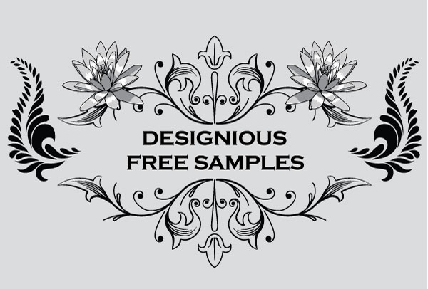 20 Free Set of Ornaments Vector Resources 6