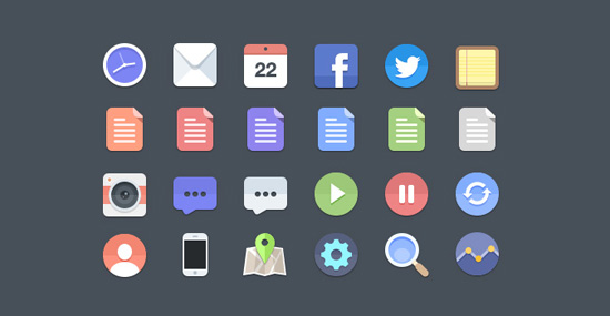 30+ Latest Free Flat Icon Sets For Your Use 2