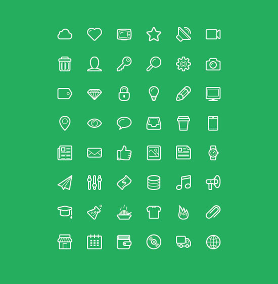 30+ Latest Free Flat Icon Sets For Your Use 21