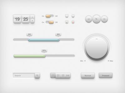 20 Free UI Element PSD Files 16