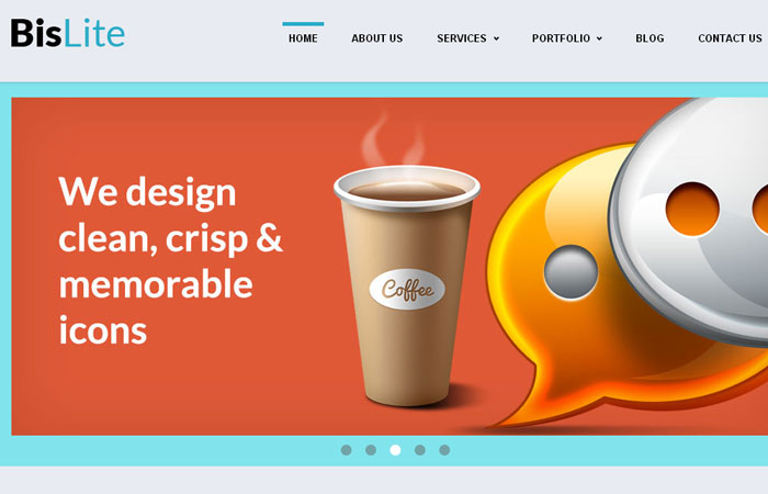 20 Free Responsive High Quality HTML/CSS Website Template 1