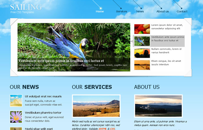 20 Free Responsive High Quality HTML/CSS Website Template 13