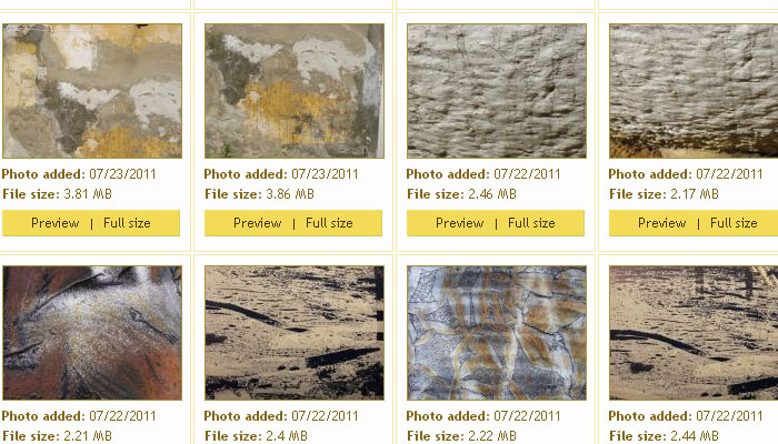 8 Excellent Galleries of Free Photoshop Textures 1