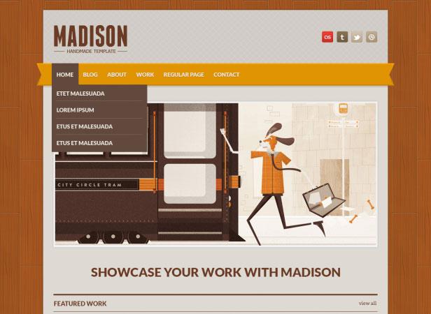 20 Beautifully Designed Free PSD Website Template 11