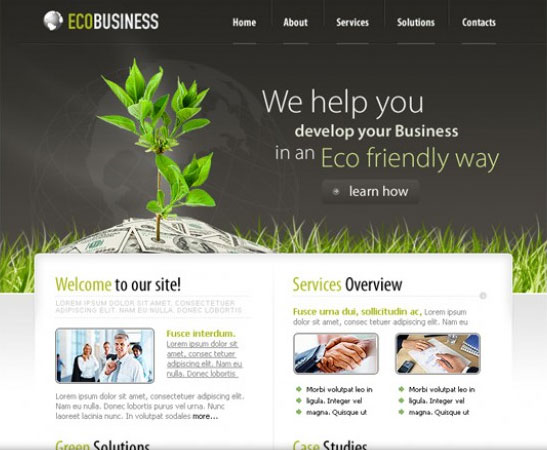 20 Beautifully Designed Free PSD Website Template 4