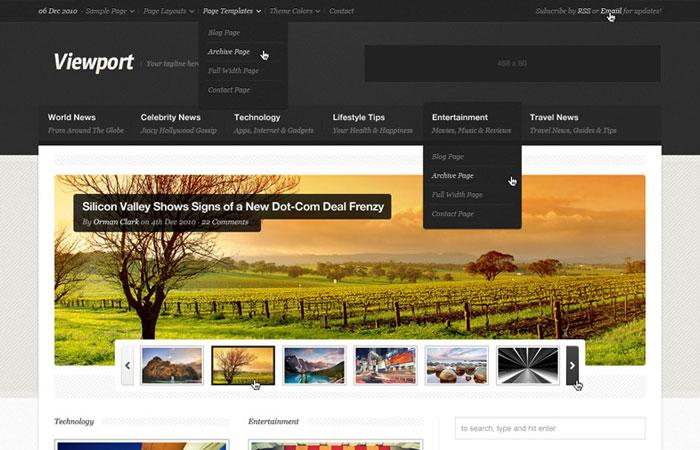 20 Beautifully Designed Free PSD Website Template 5