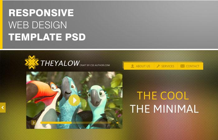 20 Beautifully Designed Free PSD Website Template 7