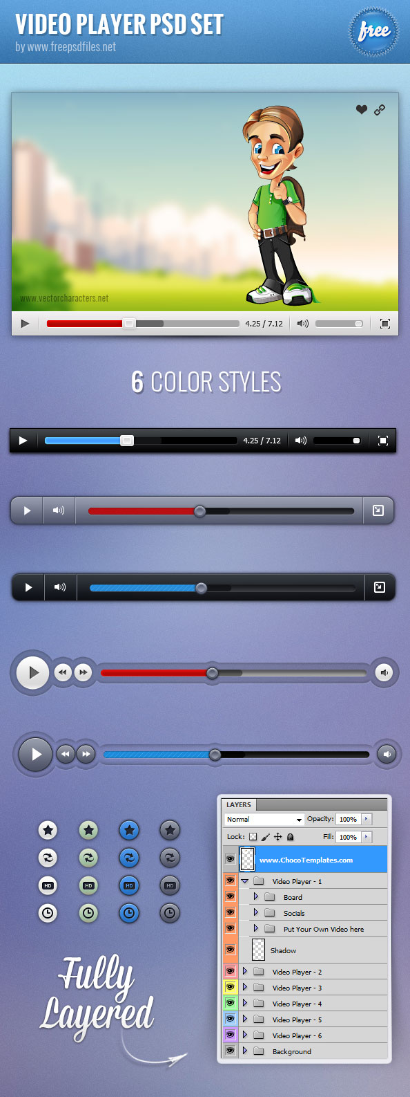 20 Exceptional Free PSD Web Elements for Designers 16