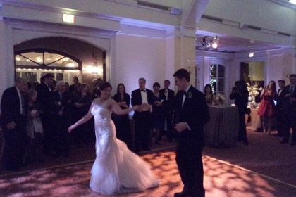 Karolina and Peter's first dance at Decatur House