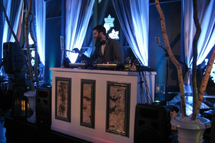 DJ Deep Sang on the set at the W Hotel's POV Lounge