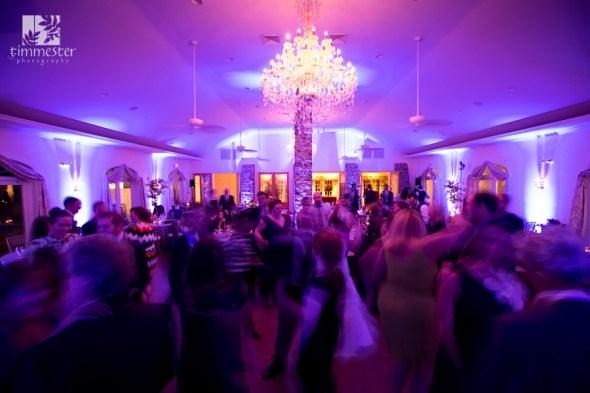 lighting design provides dramatic color at Meredith & Ryan's wedding