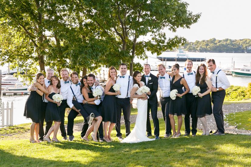 Cori & Beckett's wedding party on Peaks Island, ME