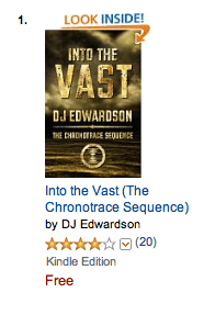 Into the Vast, a dystopian science fiction novel by DJ Edwardson is #1 in teen sci-fi on amazon.com