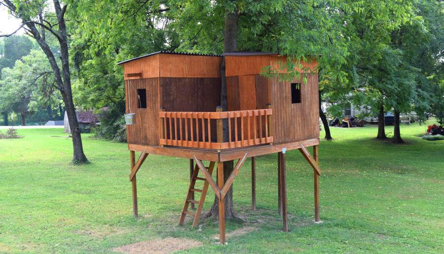 backyard treehouse