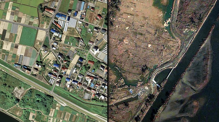 before and after japan tsunami