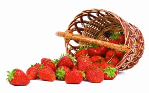 strawberries in a basket