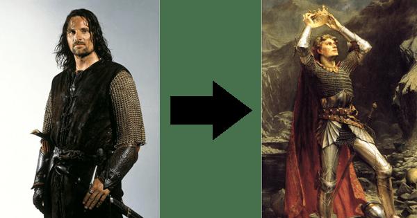 aragorn and king arthur