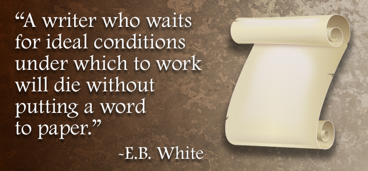 eb white quote on writing and waiting