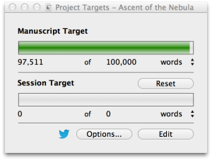 Ascent of the Nebula writing progress - almost finished