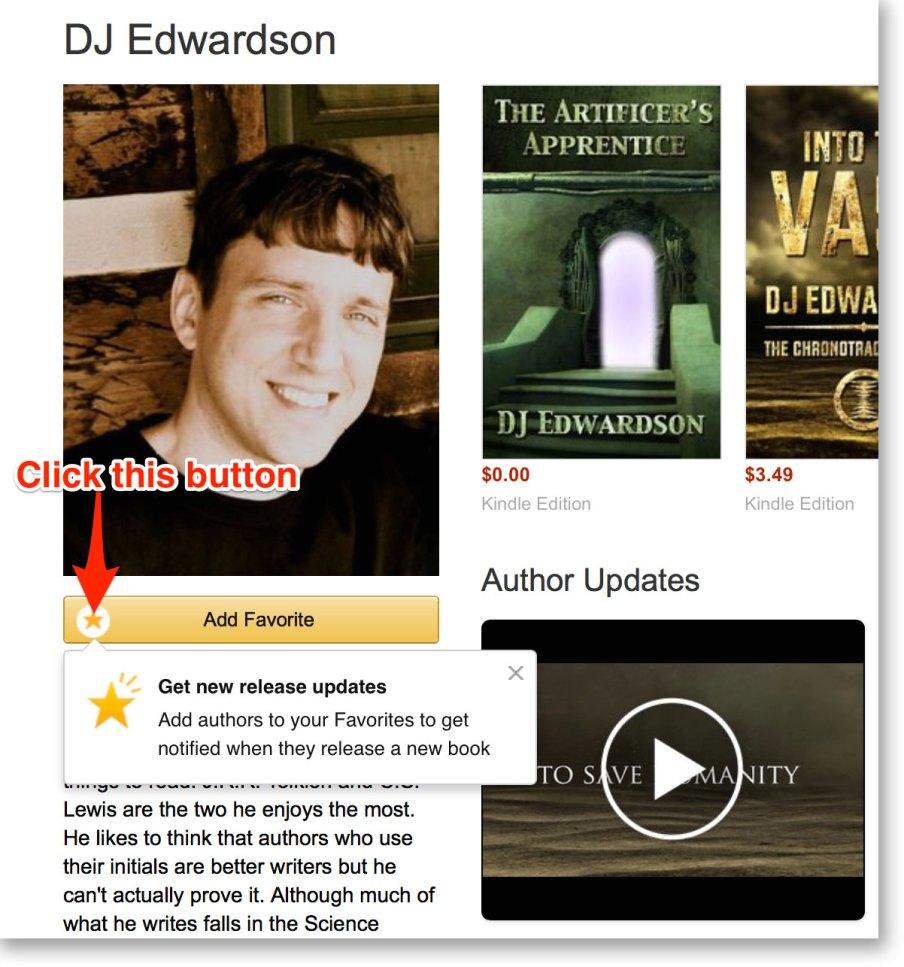 make dj edwardson a favorite amazon author