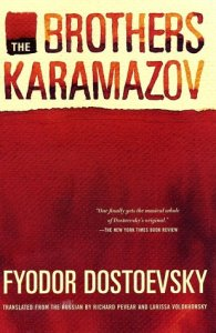 brothers karamazov book cover from the novel by Fydor Dostoevsky