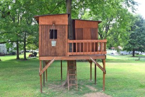 backyard treehouse front