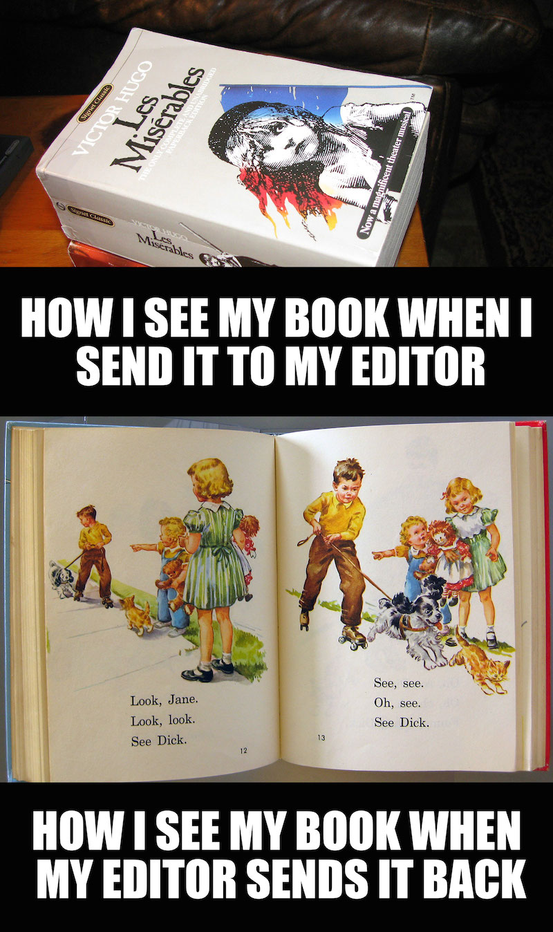 author book editing meme