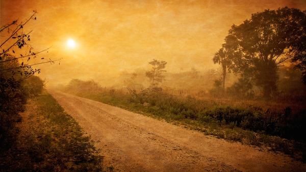 old sunset road ahead