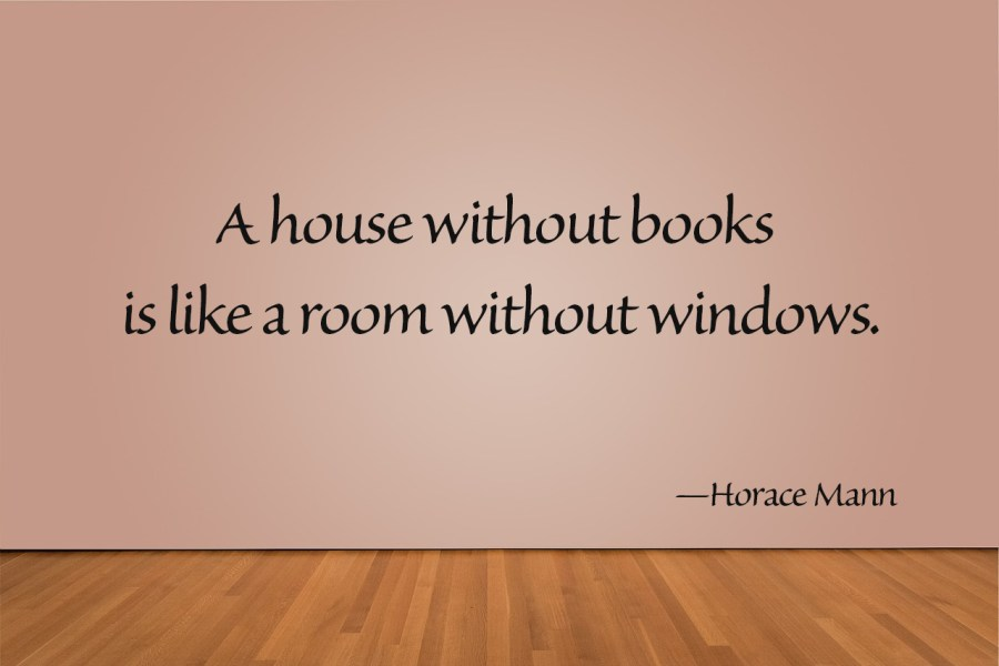 house without books quote