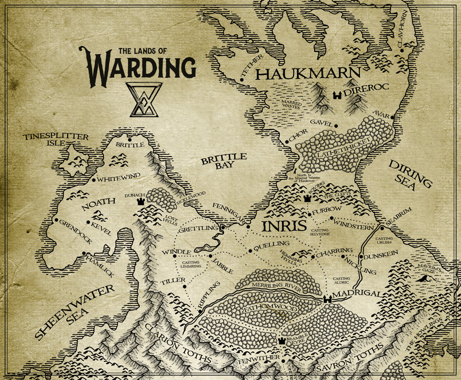 Map of the Northern Lands of Warding