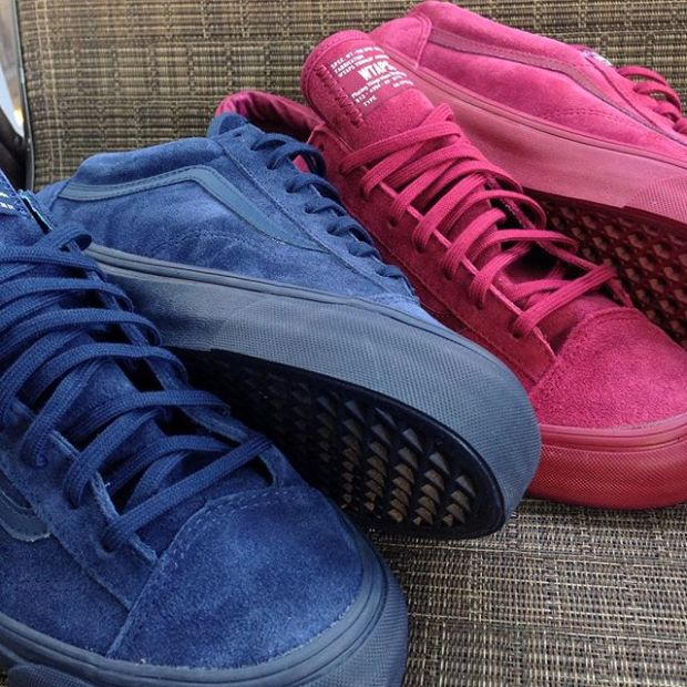 473a7a706d Navy and Burgundy Vans Vault x Wtaps OG Style 36 LX s. Just waiting on the