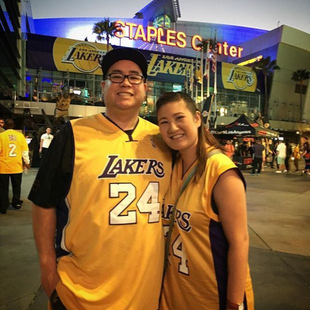 Purple and Gold!  Last night with @tintin7117  and the @footage_official fam! #Lakers
