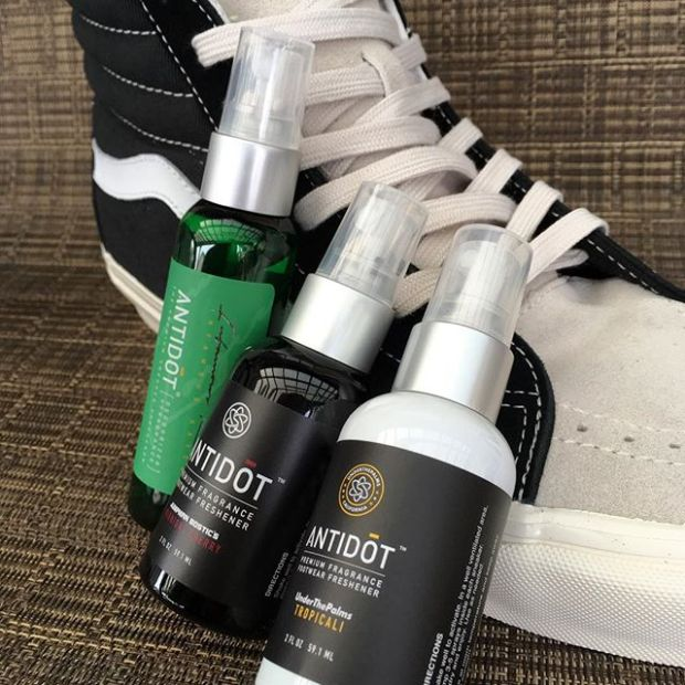 Right in time for the holidays. Pick up the Triple Collab Pack [TCP] by @solscience, featuring our Tropicali, @infamouskayce's Midori Plasma, & @jumpmanbostic's Midnight Cherry, now available at www.solscience.co..#ANTIDŌT by #sōlscience Sneaker Fragrance + DeodorizerThe Future of Shoe Care www.solscience.co#underthepalms #fearofgod #fearofgodvans #fog #fogvans
