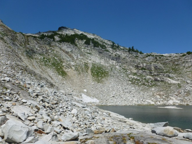 Vesper Peak from Vesper Lake